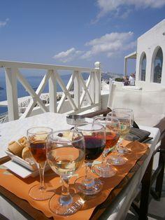 Tasting plate from Santo Wines Vineyard in #Santorini.  Taken by me in July 2011.