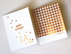 DIY metallic foil cards