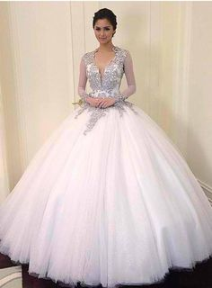 Luxury 2014 New Beading Crystal Floor-Length Long-Sleeves Ball-Gown Court Train Backless Wedding Dress 10997197 - Vintage Wedding Dresses - bridalup.Com