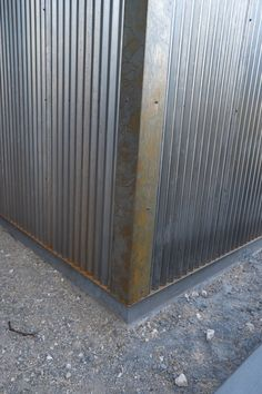 Rusty patine is starting to form. Exterior Wall Cladding, Metal Cladding, Steel Siding, Tuff Shed, Studio Shed, Metal Shed, Casas Containers, Building A Container Home, Desert Homes