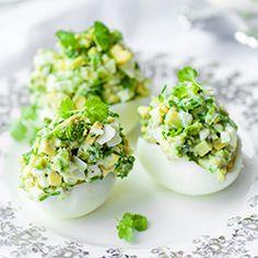 Jajka faszerowane awokado   Kwestia Smaku
