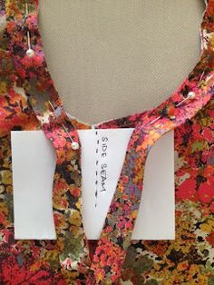 Tutorial: Attaching and Joining Double Fold Bias Binding ... as a facing on neck and armhole edges