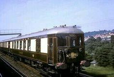 """The famous """"Brighton Belle"""" Electric PULLMAN trains. These were withdrawn in the 1970s but one is now under restoration."""