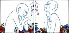 Two panel pose art idea