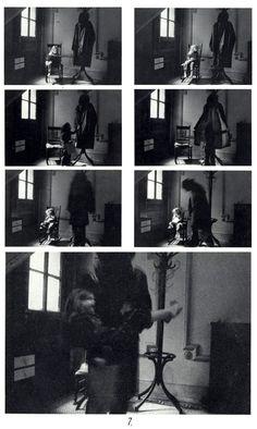 'Bogeyman', 1973. Duane Michals.  Mejor apreciación de la serie en: http://nekocitron.tumblr.com/post/52064967144/duane-michals-bogeyman-kidnapping