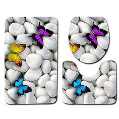Cheap bath mat, Buy Quality mats set directly from China bathroom mat Suppliers: Bathroom Mat Set Beach Pattern Bath Mat Anti Slip Bathroom Rug Soft Foam Toilet Mat and Bath Rug Sets