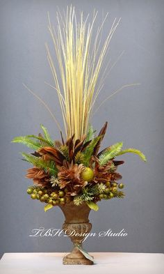 Fantastic Fall urn by Tish Bodell Hopkins