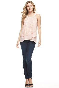 Sequined Asymmetrical Top