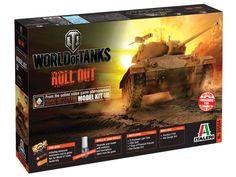 Model Italeri 36504 tank M24 Chaffee World of Tanks, plastikowy model czołgu do sklejania z okresi WWII.