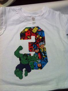 Avengers birthday. Hulk birthday shirt on Etsy, $16.00