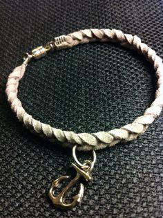 Customizable Braided Suede Charm Bracelet by JewelryJennyTraister, $8.00