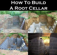 How To Build A Root Cellar!  Instructions here: http://homesteadingsurvival.com/how-to-build-a-root-cellar/