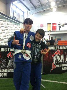 Peggy Boisvert and her son, gold and silver medalists at the 2013 Seattle NAGA!! Life Champions! Brazilian Jiu Jitsu - BJJ Seaside - orbjj.com - 30 Days Free!