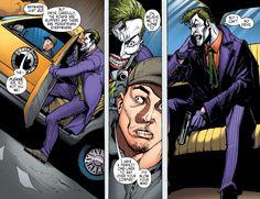 Joker commandeers a cab