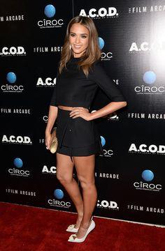Jessica Alba ACOD Premiere-Narcisco Rodriguez Spring 2014 Look and Nicholas Kirkwood Embellished Pumps