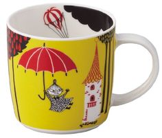 Made in Japan Moomin Valley Picture Book Mug Cup Umbrella