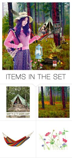 """""""Spring Camping"""" by synkopika ❤ liked on Polyvore featuring art"""