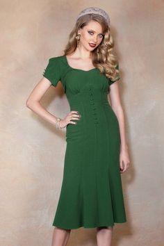 Image result for green vintage pencil dress