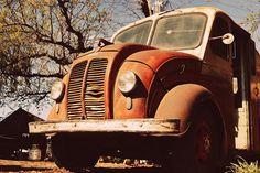 vintage milk truck. by Kaitlin Firstbrook