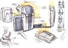 sketch pages by Dinesh Kumar Chandrasekaran, via Behance