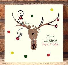 Reindeer Footprint Plaque 306B_Plq by MyForeverPrints on Etsy