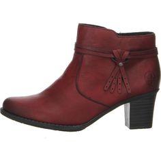 Rieker Stiefelette in rot jetzt günstig bei Salamander shoppen Ankle, Berry, Fashion, Moda, La Mode, Bury, Fasion, Fashion Models, Trendy Fashion