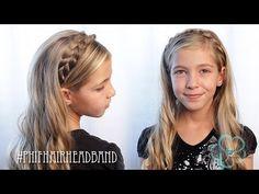 How To: Braided Hair Headband   Pretty Hair is Fun - YouTubeBraid Hairstyles, Braids, braids tutorial, braids for short hair, braids for short hair tutorial, braids for long hair, braids for long hair tutorials...
