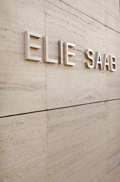 Exterior signage of the Elie Saab store in Paris _