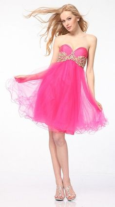 56 Ideas Dress Pink Short Tulle Skirts For 2019 Strapless Prom Dresses, Modest Dresses, Trendy Dresses, Elegant Dresses, Homecoming Dresses, Nice Dresses, Fashion Dresses, Bridesmaid Dresses, Formal Dresses