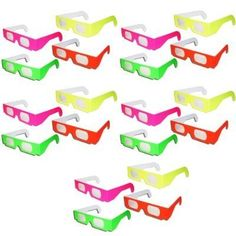 20 Pairs - Neon Prism Diffraction Fireworks Glasses - For Laser Shows, Raves * Review more details @