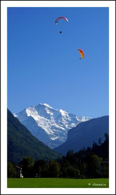 Interlaken, Bern Switzerland This made me think about hang gliding, and that we should go.