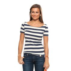 love the fit on this striped top