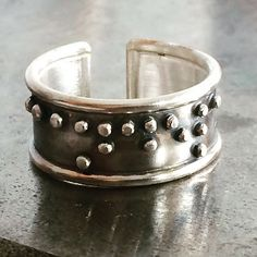 "Anillo Braille ""Candela""  Silver Braille Ring ""Candela"""