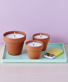 Terracotta Pot Candles | It takes just a few hours to craft your own votives.