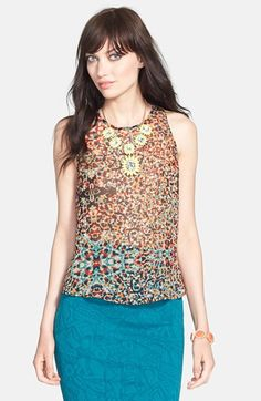 ASTR Lace Back Layered Tank available at #Nordstrom