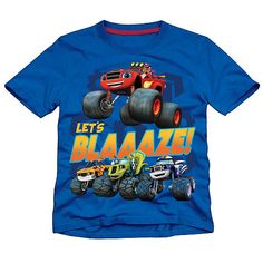 """Nickelodeon Boys Blue Blaze and the Monster Machines """"Let's Blaaaze!"""" Short Sleeve Graphic T Shirt - Toddler - Extreme Concepts - Babies """"R"""" Us"""
