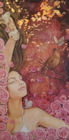 ❧ Couleur : Rose et brun ❧ art by Jo Jayson Marsala, Pink Brown, Pink And Gold, Pink Themes, Portraits, Fantastic Art, Divine Feminine, Color Rosa, Color Of The Year