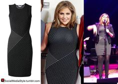 "Buy Hillary Scott's ""The Best Of Me"" Screening Mixed Stripe Dress, here!"