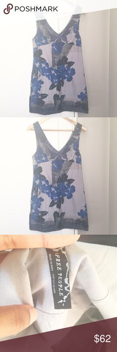 "Free People Printed Mini Dress In Great Condition/ Bust:14"" Length: 31.5"" Feel free to ask any questions or make an offer. 15% off bundles of 2 or more items 😃 Free People Dresses Mini"