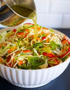 Three-week salad - White cabbage salad with long durability Good Healthy Recipes, Clean Recipes, Raw Food Recipes, Veggie Recipes, Wine Recipes, Salad Recipes, Healthy Snacks, Vegetarian Recipes, Healthy Eating