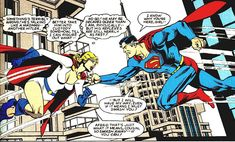 Superman is corrupted by the Stream of Ruthlessness. From Infinity, Inc. #6 (1984); art by Jerry Ordway and Al Gordon.