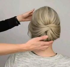 Formal Hairstyles For Short Hair, Short Hair Bun, Short Hair Styles Easy, Short Wedding Hair, Medium Hair Styles, Wedding Hairstyles, Office Hairstyles, Anime Hairstyles, Stylish Hairstyles