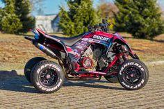 Yamaha Raptor with a Ducati Panigale 1299 V-Twin Motor – Engine Swap Depot Yamaha Atv, Ducati, Atv Plow, Motocross Love, Engine Swap, Quad Bike, Cafe Racer Bikes, Four Wheelers, Jeep Cars