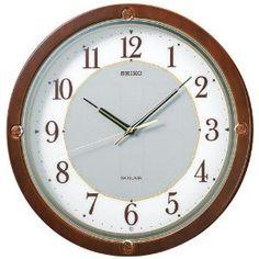 Ladies Watches - SEIKO CLOCK(セイコークロック) 電波掛け時計 ツイン・パ ソーラープラス 木枠 ブラウンSF232B | 最新の時間センター