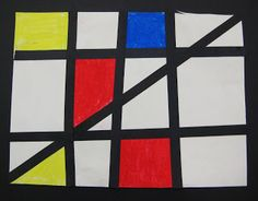Mondrian primary colours and abstract design