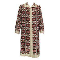 1920s  Art Deco woven wool coat