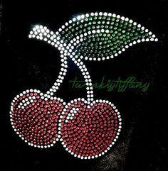 "Hotfix Rhinestones Heat Transfer Iron on ""Cute Cherry"" | eBay"
