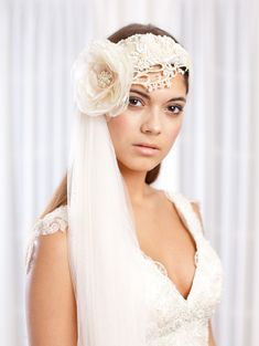 Stunning! Jannie Baltzer ~ New 2013 Collection of Couture Headpieces and Wedding Veils...