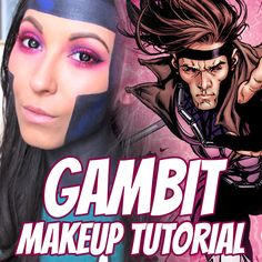 Click to watch: #Gambit #Cosplay Makeup Tutorial! gambit, x-men, xmen, makeup, crossplay, tutorial, crossplay makeup