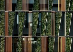 Sansiri Vertical Living Gallery is an Alluring Bangkok Office Wrapped in Green  |  Inhabitat